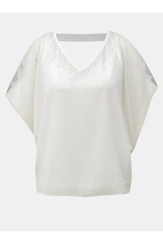 Bluza alba cu decupaj la spate si pe umeri Billie & Blossom Petite