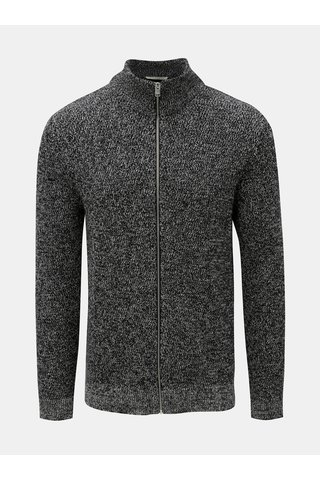Cardigan structurat negru melanj Selected Homme