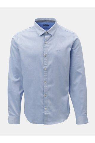 Camasa barbateasca slim fit albastru deschis melanj s.Oliver