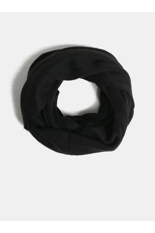 Fular circular negru Pieces Drace