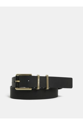 Černý dámský kožený pásek Calvin Klein