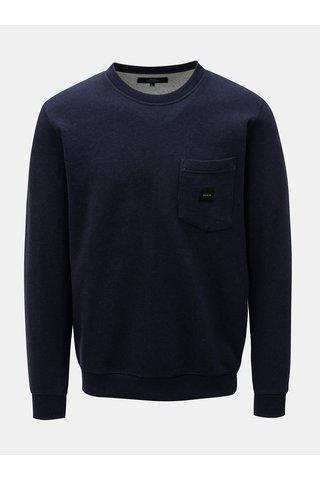 Bluza sport albastru inchis cu buzunar la piept Makia Square Pocket