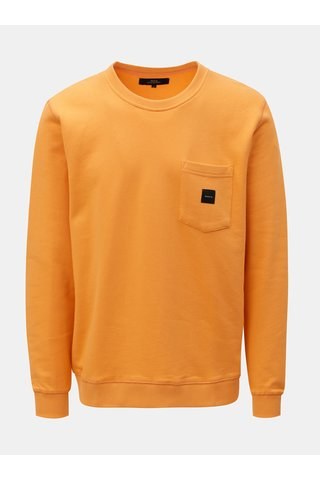 Oranžová mikina s náprsní kapsou Makia Sguare Pocket