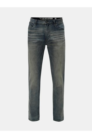 Blugi barbatesti regular fit albastri din denim s.Oliver