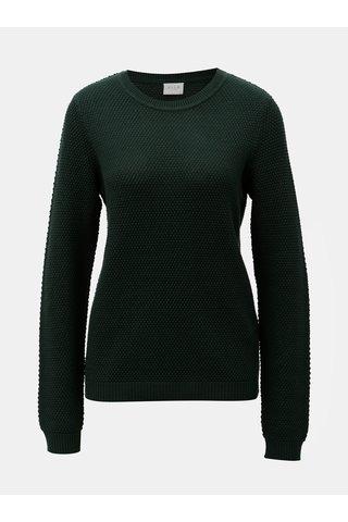 Tmavě zelený strukturovaný svetr VILA Chassa