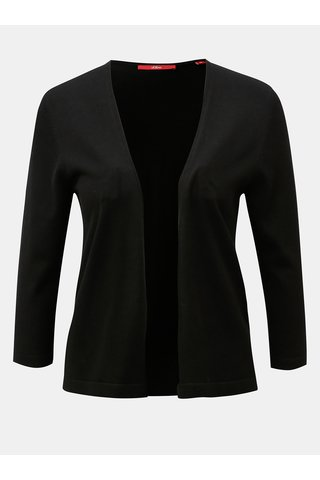 Cardigan de dama negru scurt cu maneci 3/4 s.Oliver