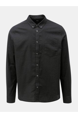Camasa neagra cu buzunar la piept Burton Menswear London Oxford