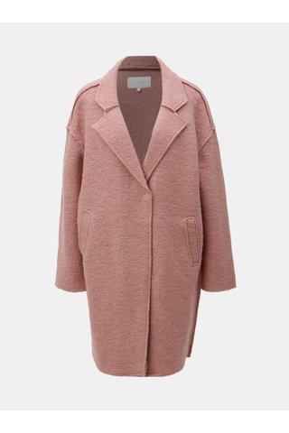 Růžový vlněný kabát VILA Rah