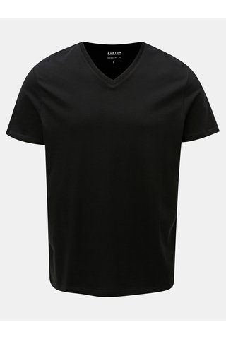 Tricou negru basic regular fit Burton Menswear London