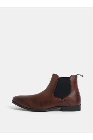Ghete maro din piele naturala Burton Menswear London Rafferty