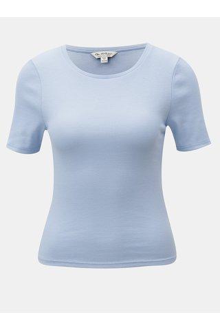 Tricou albastru deschis cu stratii si maneci scurte Miss Selfridge
