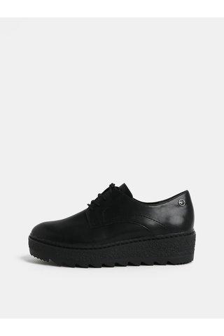 Pantofi negri cu platforma structurata Tamaris