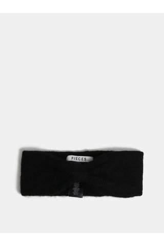 Bentita neagra cu amestec de lana Pieces Josefine