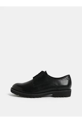 Pantofi negri din piele naturala Tamaris