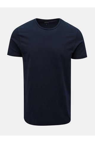 Tricou albastru inchis muscle fit Burton Menswear London
