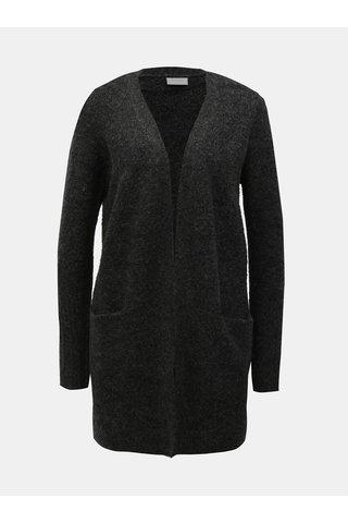 Cardigan gri inchis cu amestec de lana VILA Place
