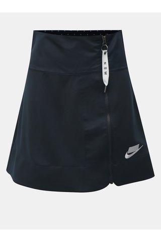 Fusta albastru inchis cu fermoar si banda elastica la spate Nike