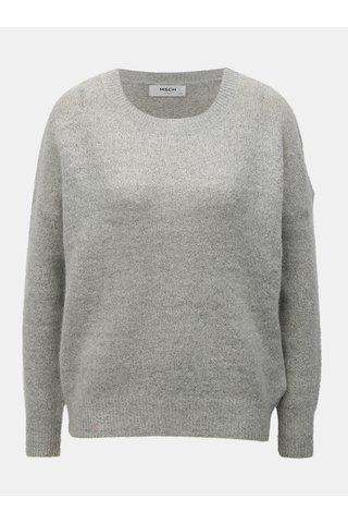 Pulover oversized gri deschis melanj din lana Moss Copenhagen