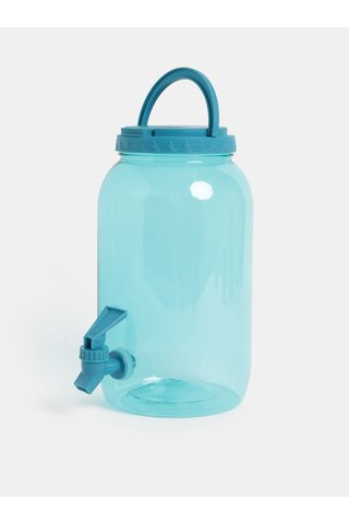 Bidon transparent albastru din plastic cu robinet Kaemingk