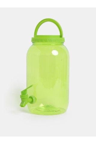 Bidon transparent verde din plastic cu robinet Kaemingk