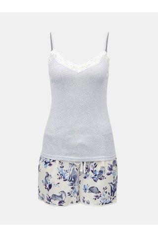 Bílo-modré dvoudílné pyžamo Cath Kidston