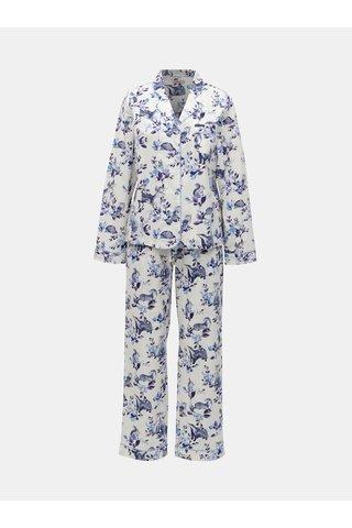 Modro-bílé vzorované dvoudílné pyžamo Cath Kidston