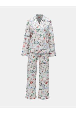 Světle šedé vzorované dvoudílné pyžamo Cath Kidston