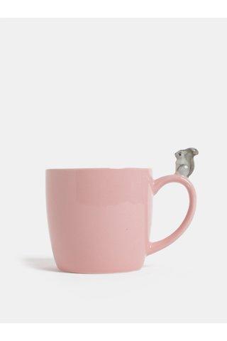 Růžový hrnek s figurkou veverky Cath Kidston 250 ml