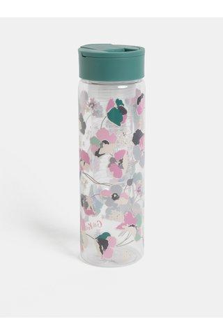 Plastová láhev s filtrem na ovoce a zeleným víčkem Cath Kidston