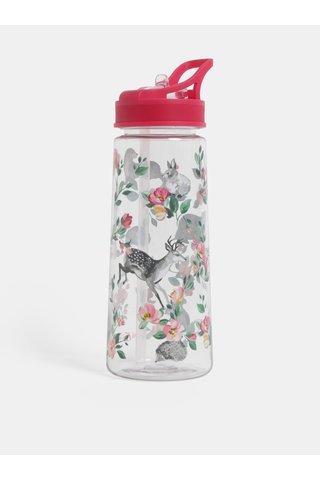 Plastová láhev s brčkem a motivem lesních zvířat Cath Kidston