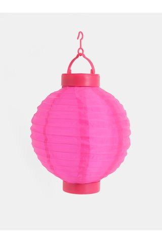 Lampion solar roz inchis Kaemingk