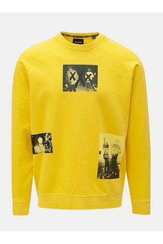 Bluza sport galbena cu print ONLY & SONS Wuk