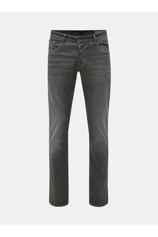 Blugi barbatesti gri slim fit din denim Garcia Jeans