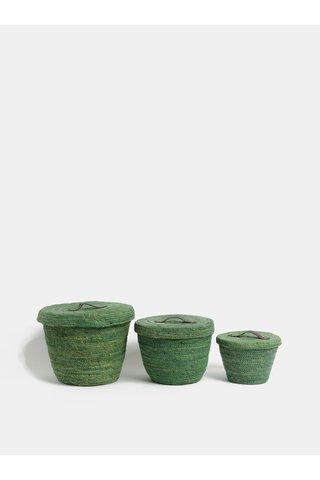 Set de trei cosulete de culoare verde Kaemingk