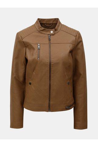 Jacheta maro din piele sintetica VERO MODA