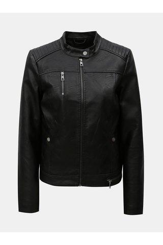 Jacheta neagra din piele sintetica VERO MODA