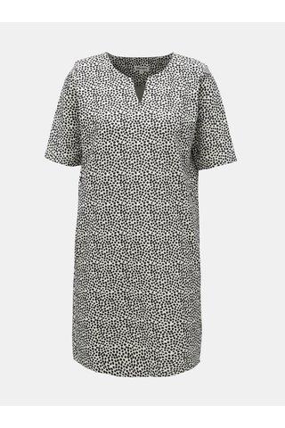 Rochie negru-alb in dungi cu buzunare Garcia Jeans