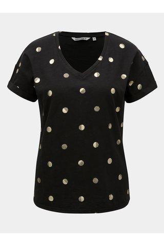Tricou de dama negru cu buline Garcia Jeans