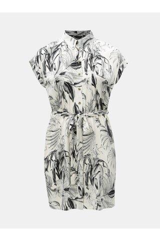 Černo-bílé vzorované košilové šaty Dorothy Perkins Curve