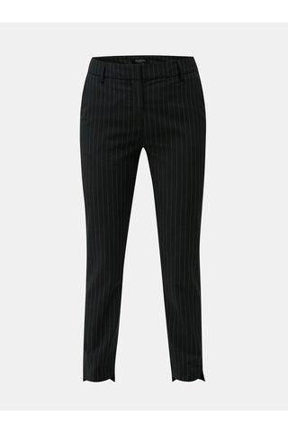 Pantaloni chino negri cu dungi si amestec de lana Selected Femme Famila
