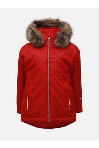 Červená holčičí funkční lyžařská bunda Name it Snow