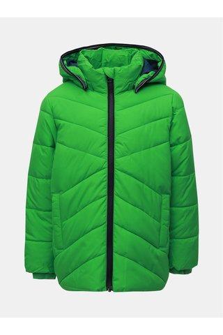 Zelená klučičí zimní prošívaná bunda Name it Mil
