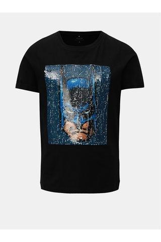 Černé klučičí tričko s magickými flitry Name it Batman