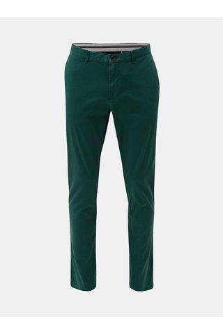 Tmavě zelené pánské straight fit chino kalhoty Tommy Hilfiger Denton