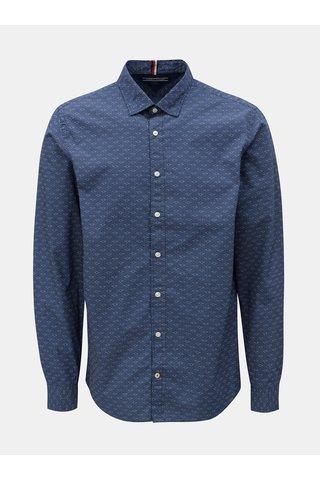 Tmavě modrá vzorovaná regular fit košile Tommy Hilfiger Printed
