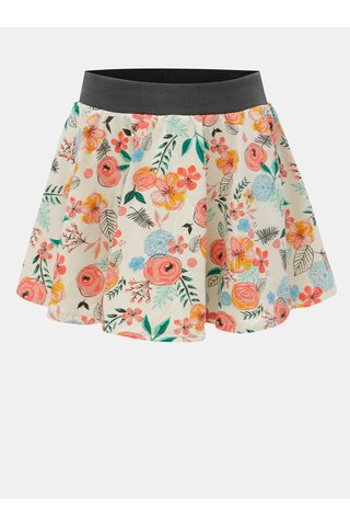 Růžovo-béžová květovaná sukně BÓBOLI