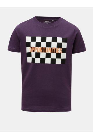 Fialové klučičí tričko s potiskem LIMITED by name it