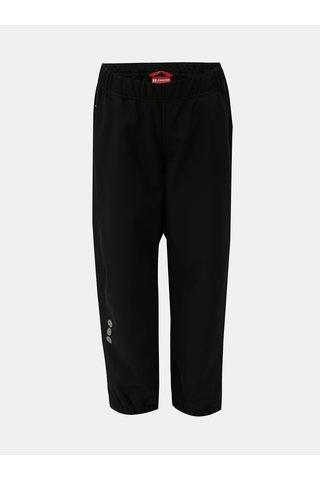 Černé holčičí funkční softshellové nepromokavé kalhoty Reima Oikotie