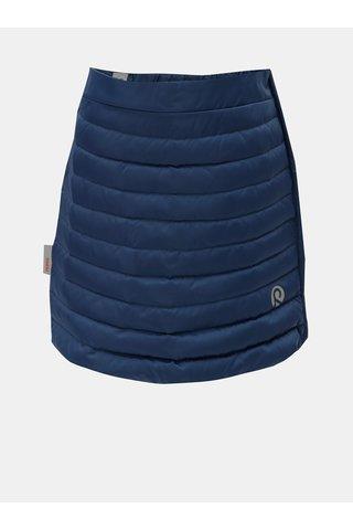 Tmavě modrá prošívaná funkční sukně na zip Reima Floora