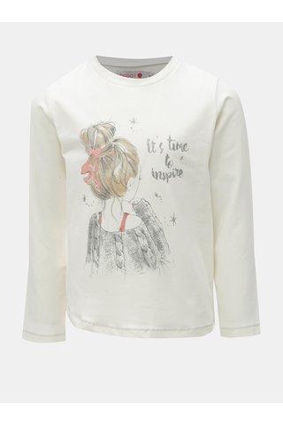 Krémové holčičí tričko s potiskem BÓBOLI